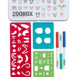 Zoobox Stencils and Fibre Tip Pens