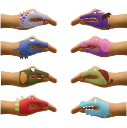 Dino Hands Temporary Hand Tattoos