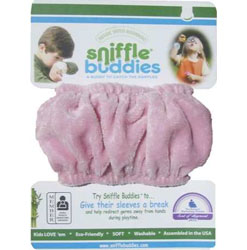 Sniffle Buddies handy band to wipe nose on
