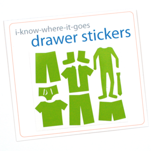 Drawer Organizer Stickers