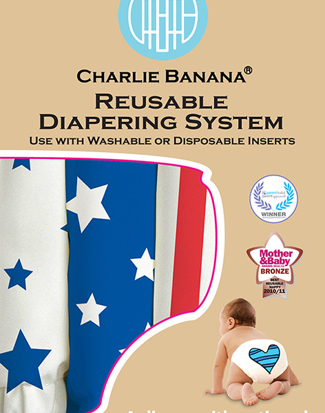 Charlie Banana 2 in 1 Cloth Diaper - 3 pack