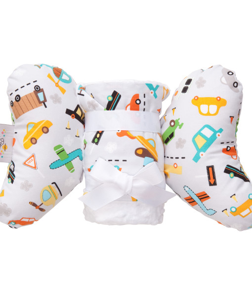 VROOM GIFT SET WITH BABY ELEPHANT EARS AND LARGE BLANKET