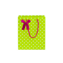 bags, polka dot, green bag, pink ribbon, birthday party, christmas bag, gift bag, paper bag