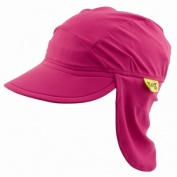 flap hat plain pink