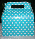 loot bags, birthday, birthday party, box, polka dot box, treat box, treat bag, celebrations