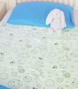 waterproof,absorbent,soft,bed cover